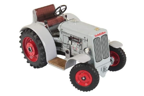 Traktor Schlüter DS 25 šedivý na kľúčik kov 1:25 v krabičke 17x11x10cm Kovap