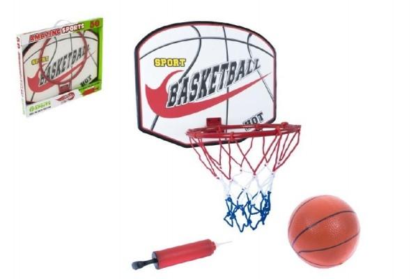 Basketbalový kôš + lopta s pumpičkou 49,5x41,5x4cm