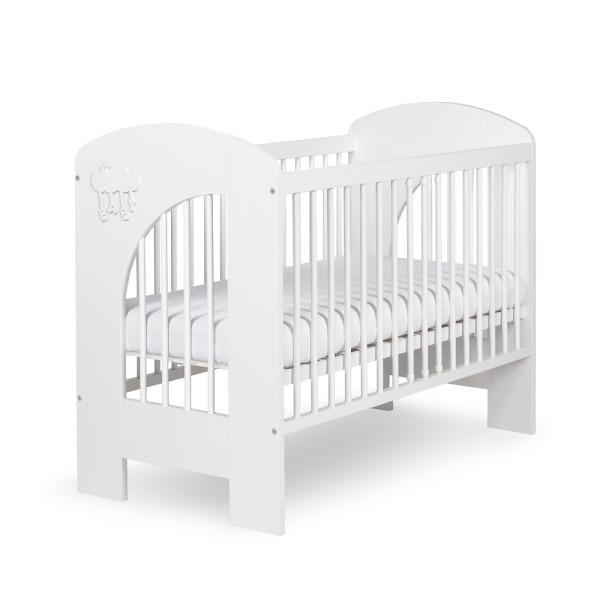 Klups Detská postieľka Nel mráčik biely - 120x60