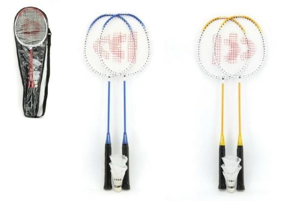 Teddies Badminton sada + 3 košíčkami Donnay kov 66cm asst 3 farby v taške