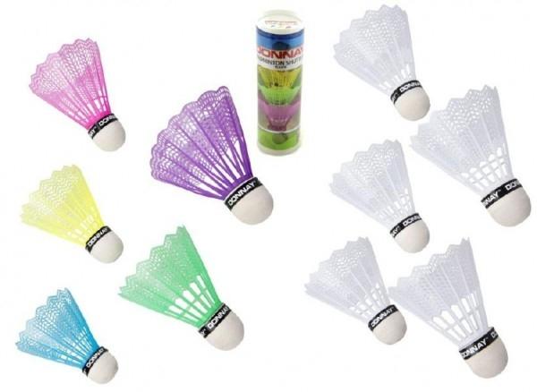Teddies Loptičky/Košíčky na badminton plast 5ks v tube, 2 farby 6x19x6cm