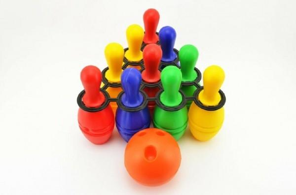 Teddies Bowling kolky plast 21cm 10ks v sieťke