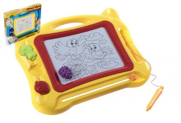 Teddies Magnetická tabuľka kresliace plast 50x39cm asst 2 farby v krabici