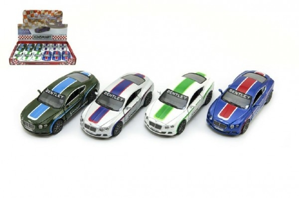 Auto Kinsmart Bentley Continental GT Speed 12cm kov asst 4 farby na spätné natiahnutie 1