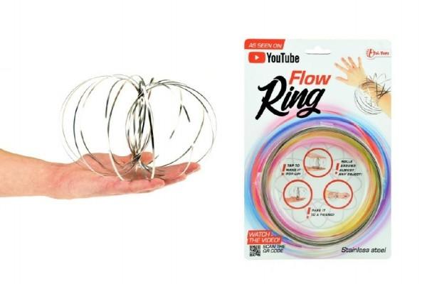 Teddies Flow Ring kovová špirála priemer 13cm na karte 16x24cm