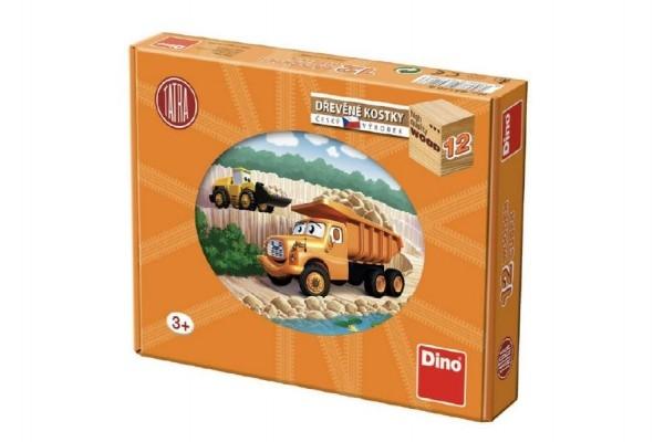 Teddies Kocky kubus Tatra 12 drevo 12ks v krabičke 22x17x4cm