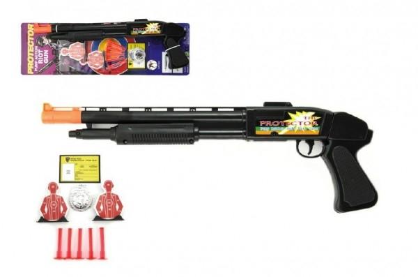 Teddies Pištoľ na prísavky s doplnkami plast 50cm na karte