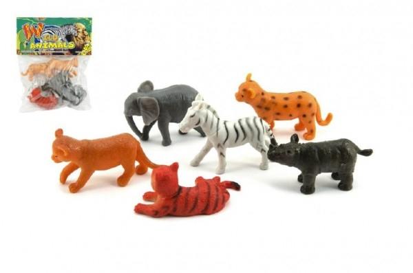 Teddies Zvieratko safari plast 6ks v sáčku 14x18x3cm