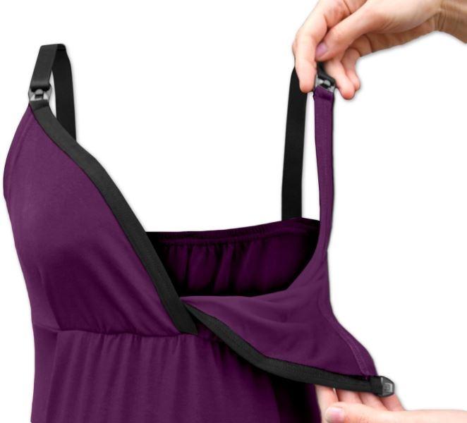 Tehotenské, dojčiace tielko - fialová,slivková