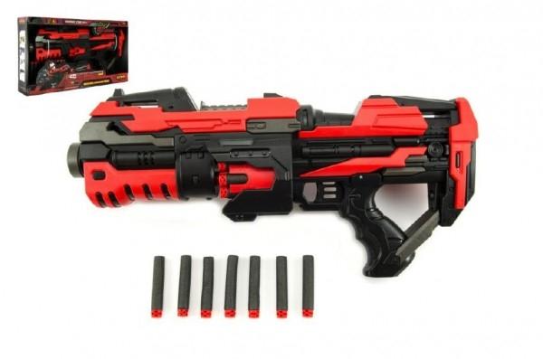 Teddies Pištoľ na penové náboje plast 45cm na batérie v krabici