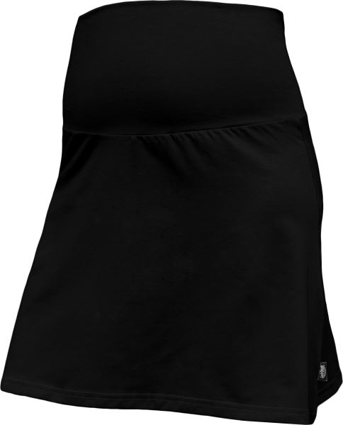 Letná tehotenská sukňa Jolana - Áčkový strih, čierna