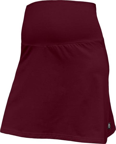 Letná tehotenská sukňa Jolana - Áčkový strih, bordo