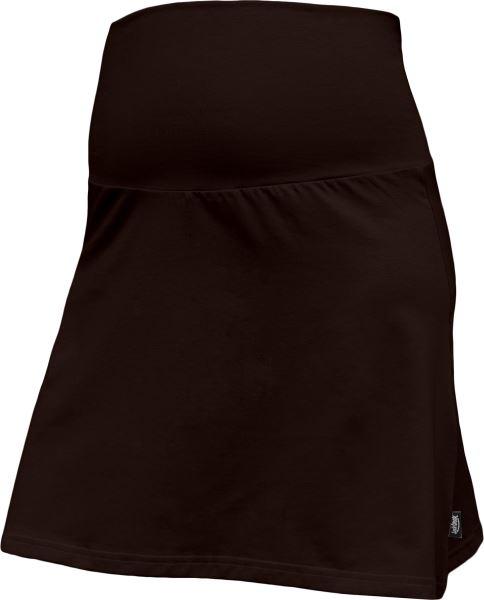 Letná tehotenská sukňa Jolana - Áčkový strih, tm. hnedá