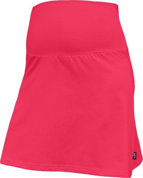 JOŽÁNEK Letná tehotenská sukňa Jolana - Áčkový strih, lososová