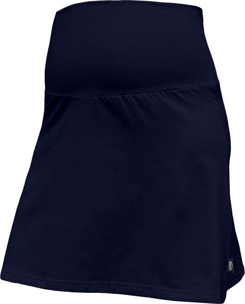 Letná tehotenská sukňa Jolana - Áčkový strih, tm. modrá
