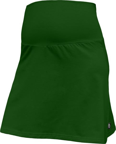 Letná tehotenská sukňa Jolana - Áčkový strih, tm. zelená
