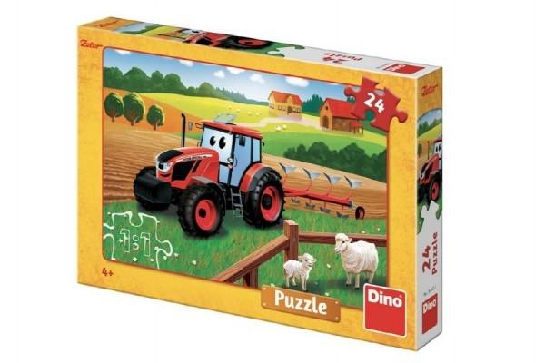Teddies Puzzle Zetor orba 26x18 cm 24 dielikov v krabici 27x19x4cm