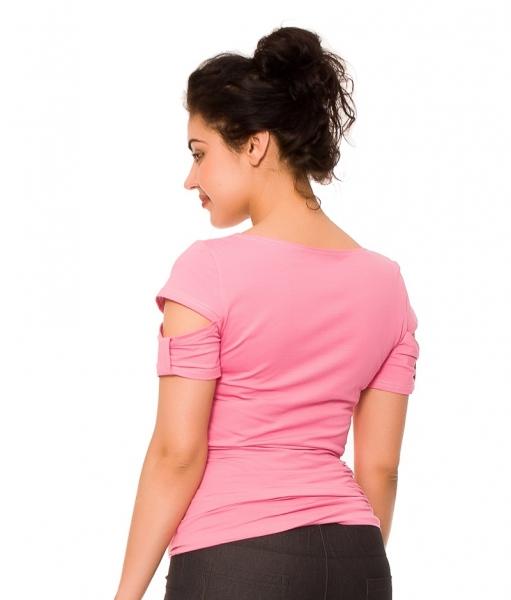 ebc8d8024a32 Tehotenské a dojčiace tričko Lena - ružové