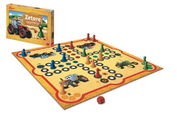 Teddies Zetor nehnevaj sa spoločenská hra v krabici 33x23x3,5cm