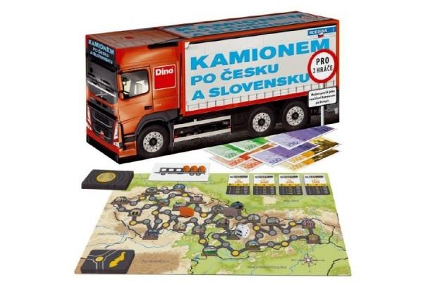 Teddies Kamiónom po Česku a slovenský spoločenská hra v krabici 36x17x11cm