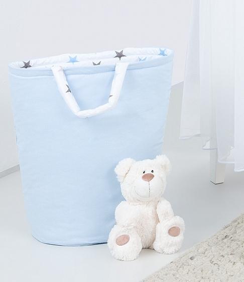 Mamo Tato Box na hračky - obojstranný. Farba: modrá / hviezdičky sive a modre D