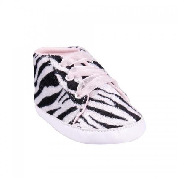 YO ! Topánočky, tenisky Zebra - čierne, 6-12 m