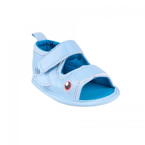 Topánočky, sandálky Fish, sv. modré-0/6 měsíců