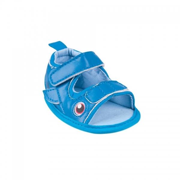 Topánočky, sandálky Fish, tm. modré-0/6 měsíců