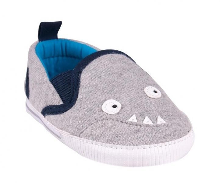 YO ! Topánočky/tenisky Monster - sivé-0/6 měsíců