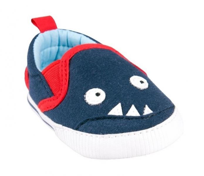 Topánočky/tenisky Monster - tm. modré, veľ. 6-12 m