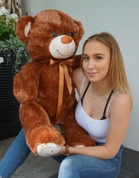 Baby Nellys Plyšový macko 120cm - čokoládový