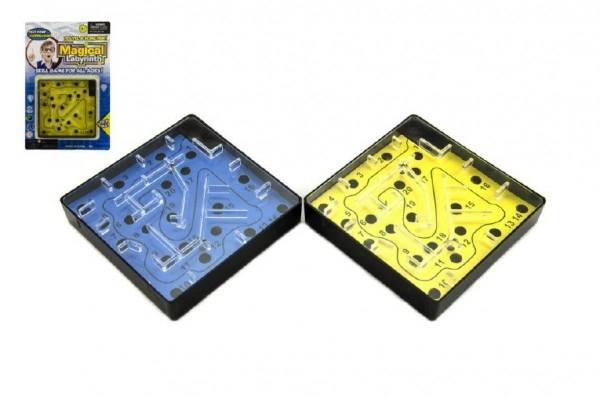 Teddies Bludisko/Labyrint hlavolam plast 10cm na karte
