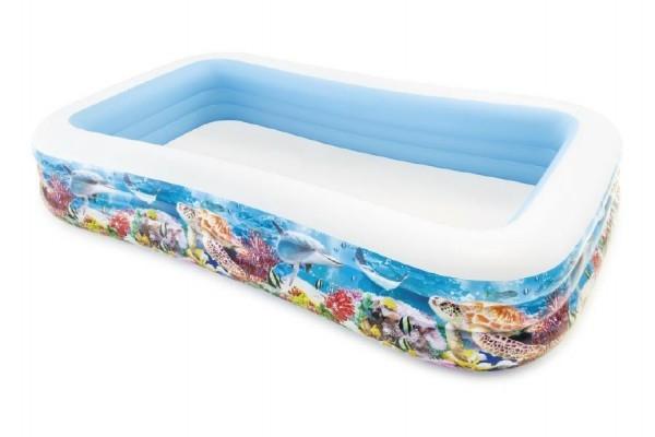 Teddies Bazén obdĺžnik morský svet nafukovacie 305x183x56cm