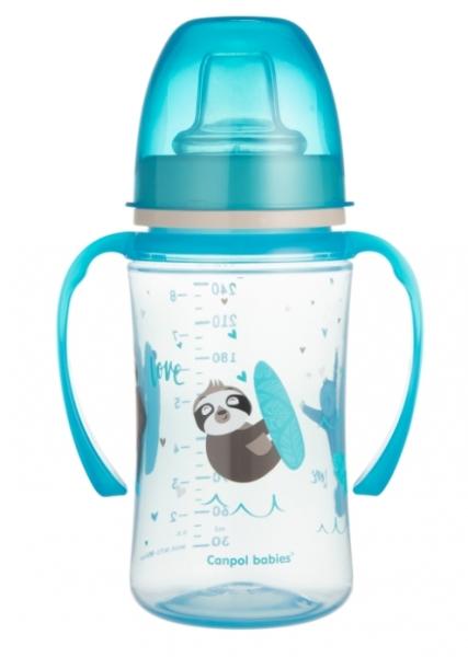 Canpol babies Nevylévací hrnček EasyStart - Panda - modrá