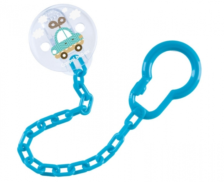 Canpol babies Retiazka na cumlík Toys - tyrkysový