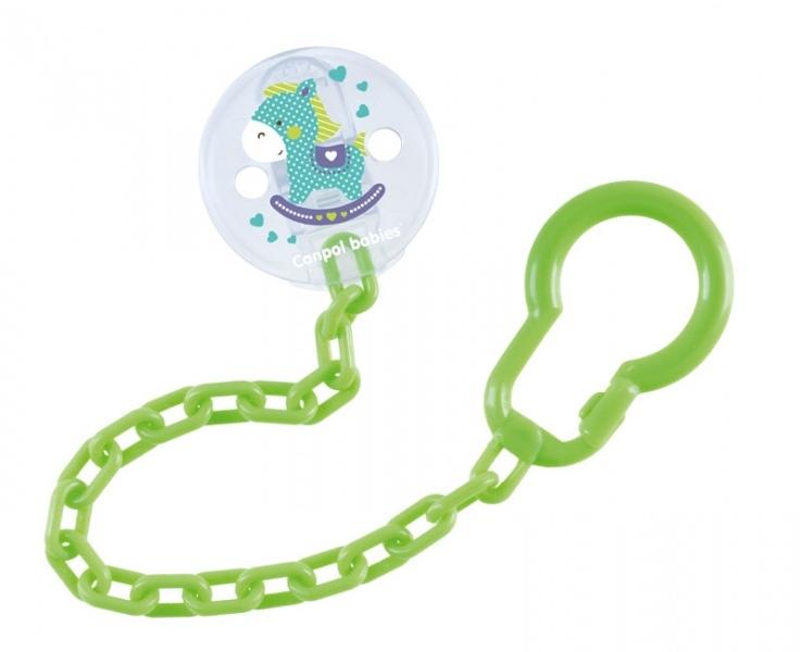 Canpol babies Retiazka na cumlík Toys - zelený