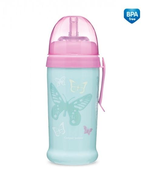 Canpol babies Športová nekvapkajúci fľaša Butterfly - mätová