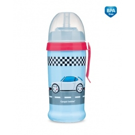Canpol babies Športová nekvapkajúci fľaša Racing - tm. modrá
