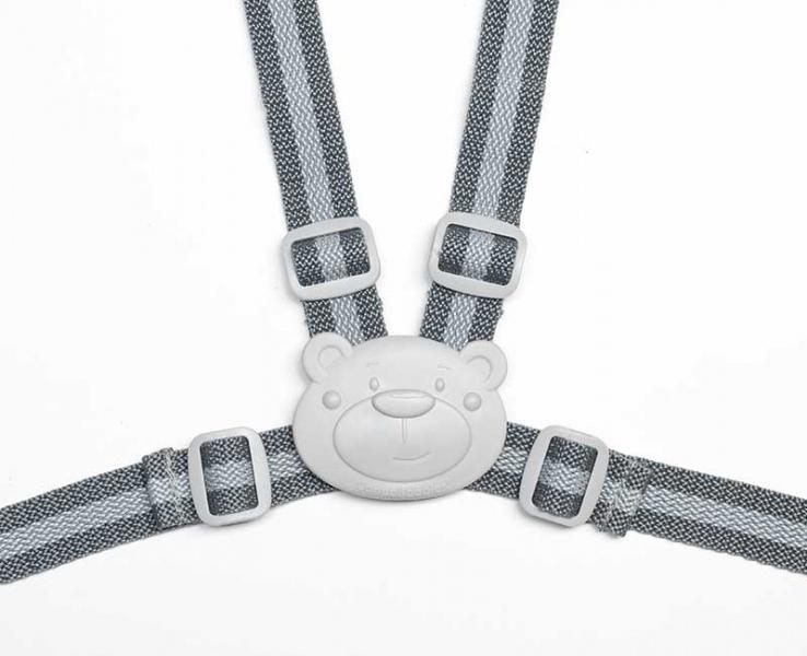 Bezpečnostné remienky / popruhy do kočíka - šedé