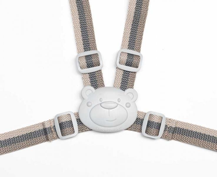 Bezpečnostné remienky / popruhy do kočíka - béžové