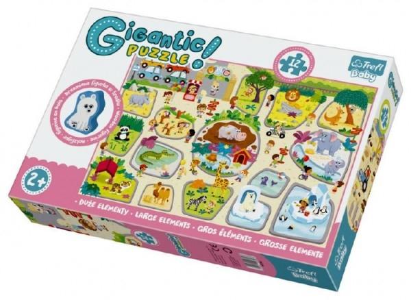 Teddies Puzzle zvieratká Gigantic ZOO 12ks v krabici 40x27x6cm 2+