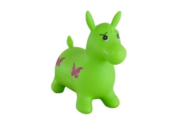 Teddies Hopsadlo kôň skákacie gumový zelený 49x43x28cm v sáčku
