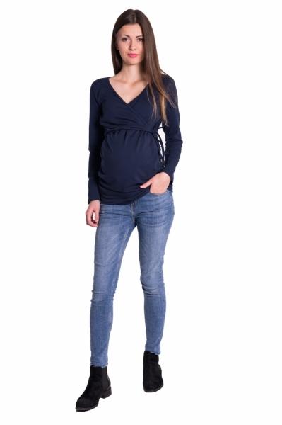 Be MaaMaa Zavinovacie tehotenské triko/tunika - granát, vel´. XXL-#Velikosti těh. moda;XXL (44)