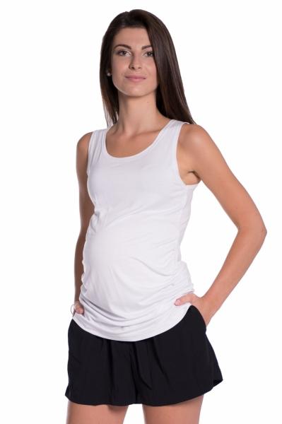 Top/tielko nielen pre tehotné - biele-S/M