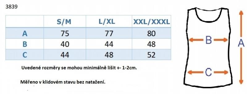 Top/tielko nielen pre tehotné - tm. modré
