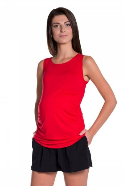 Be MaaMaa Top/tielko nielen pre tehotné - červená, vel´. L/XL