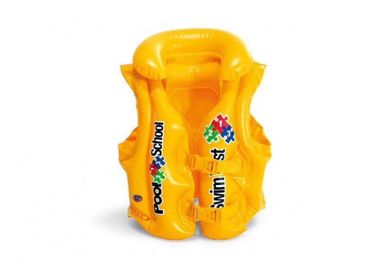 Intex Nafukovacia vesta plávacie POOL SCHOOL DELUXE žltá, 3-6 rokov