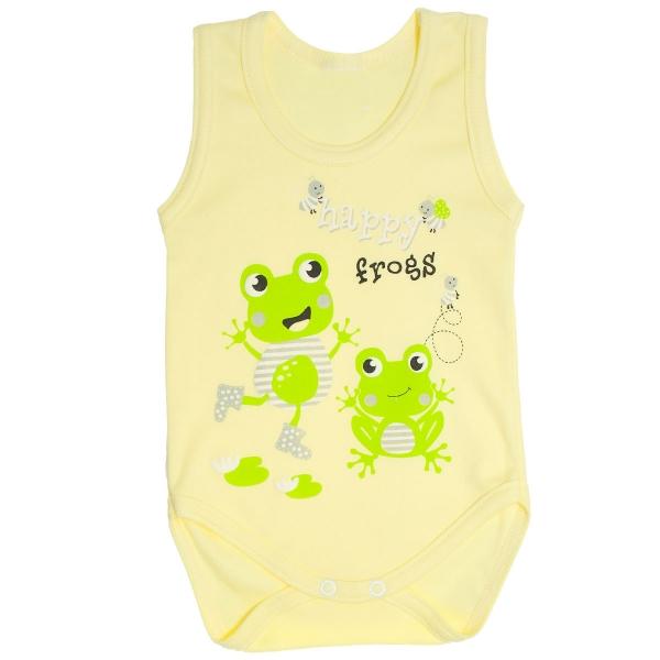MBaby Body na ramienka Žabky veľ. 74 - žlté