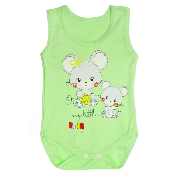 Body na ramienka Myšky veľ. 86 - zelené