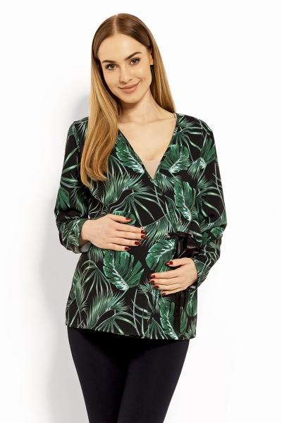 Be MaaMaa Zavinovacia tehotenská, dojčiace blúzka Printy jungle, L/XL